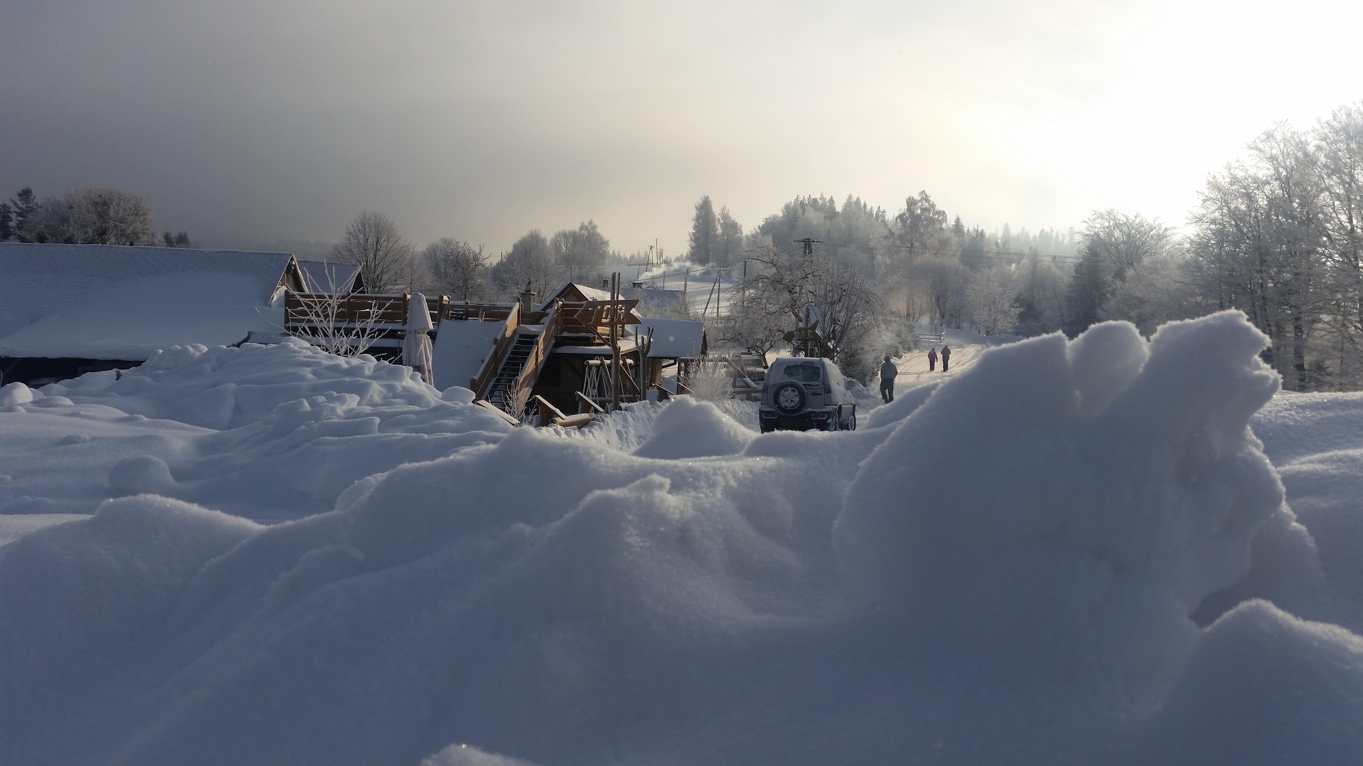 Winter, Zima Wisła Bar Pod Piramidą ul. Kamienna19