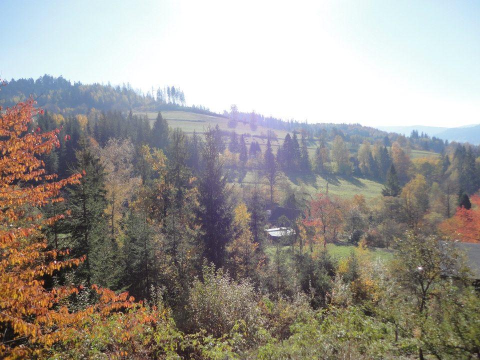 Jesień z okna U Wujcia Wisła Partecznik 20a Noclegi, Kwatery, Pensjonat