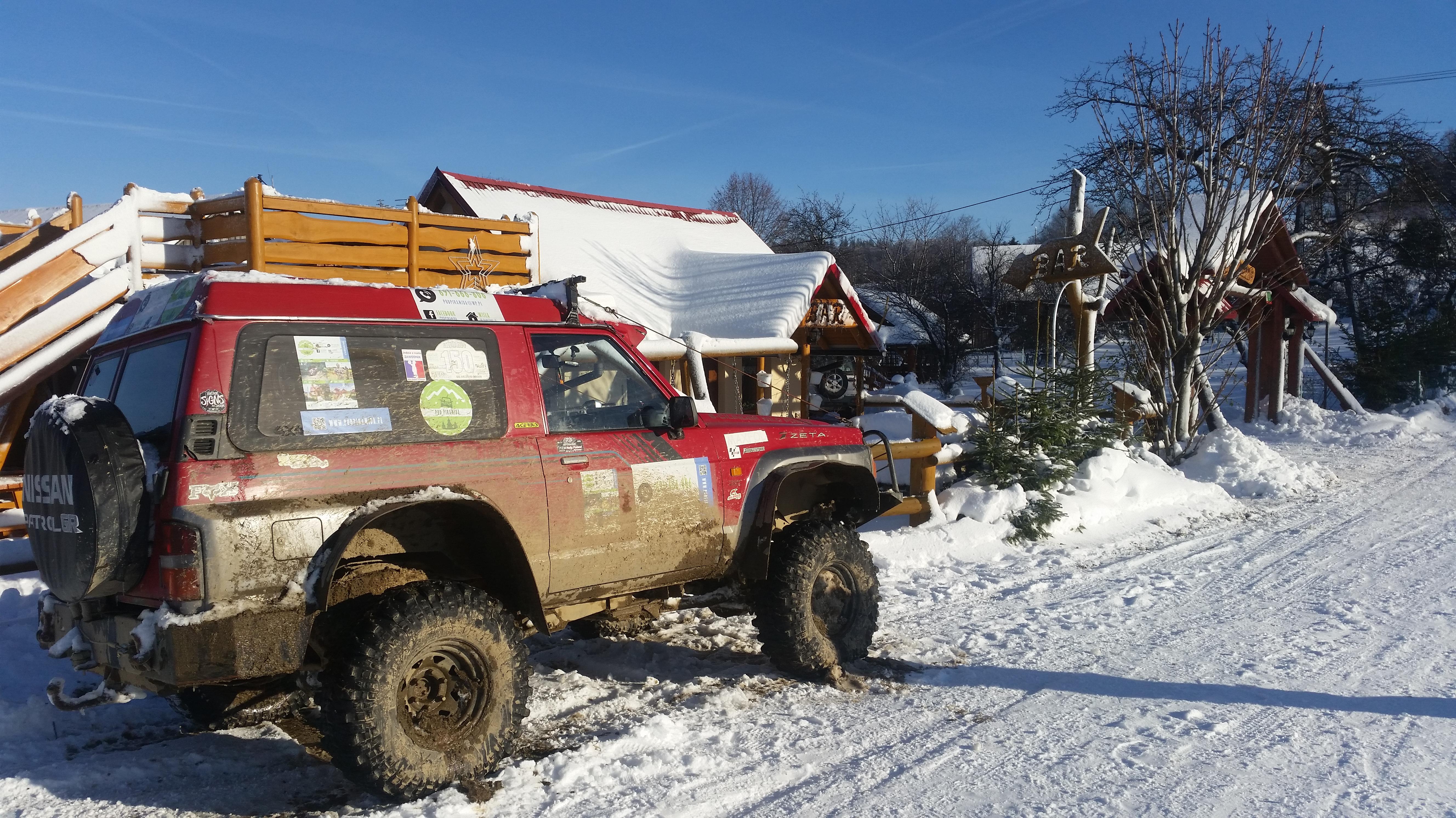 Offroad zimą Pod Piramidą